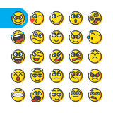 Set of emoji bubble emoticons royalty free illustration