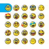 Set of emoji emoticons royalty free illustration