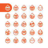 Set of emoji emoticons Royalty Free Stock Images