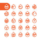 Set of emoji emoticons Royalty Free Stock Photos