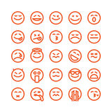 Set of emoji emoticons Stock Image