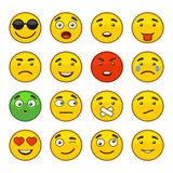 Set of Emoji Smile Icons Set. Vector Royalty Free Stock Photos