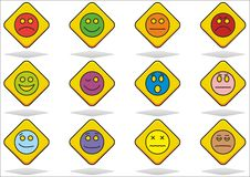 Set of emoticon Royalty Free Stock Photos