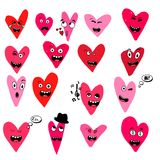 Set of emoticon with hearts isolated on white background. Emoji vector. Smile icon collection. Icon web Love style vector illustration