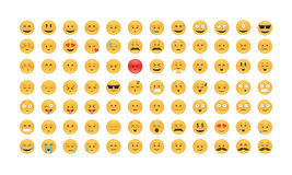 Set of Emoticon vector. Royalty Free Stock Photography