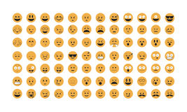 Set of Emoticon vector. Stock Photography
