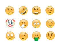 Set of Emoticon vector. Royalty Free Stock Images