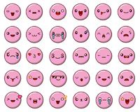 Set of emoticon vector isolated on white background. Emoji vector. Smile icon collection. Emoticon icon web. Royalty Free Stock Photos