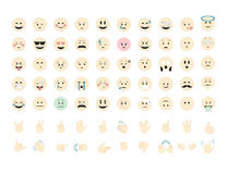Set of  emoticon vector. Smiles isolated on white background. Emoji vector. Smile icon set. Emoticon icon web Stock Photo