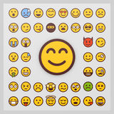Set of emoticon vector  on white background. Emoji vector. Smile icon collection. Royalty Free Stock Image
