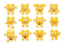 Set of emoticons. Royalty Free Stock Image