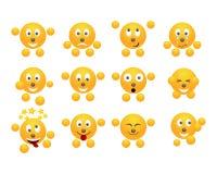 Set of emoticons. Royalty Free Stock Image