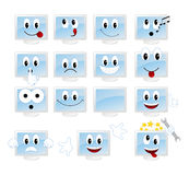 Set emoticons Stock Photography