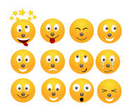 Set of emoticons. Royalty Free Stock Images