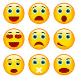 Set Emoticons Stockbild