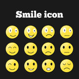 Set Emoticons Lizenzfreies Stockbild