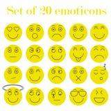 Set Emoticons Lizenzfreie Stockbilder