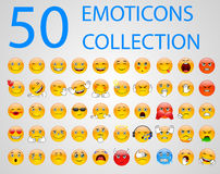 Set Emoticons Stockfotos