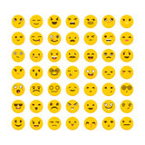 Set of emoticons. Avatars. Flat design. Big collection with diff Stock Image