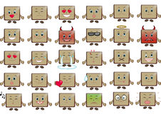 Set of Emoticons Royalty Free Stock Photos
