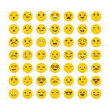 Set of emoticons. Big collection with different expressions.  Stock Image