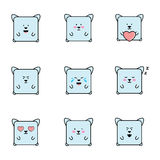 Set of emoticons with cat personaje Stock Photo