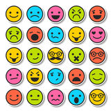 Set of emoticons, characters icons Stock Photo
