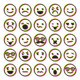 Set of emoticons, characters icons Stock Image