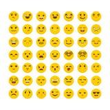 Set of emoticons. Cute emoji icons. Avatars. Flat design. Funny. Cartoon faces. Vector illustration Royalty Free Stock Image