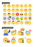 Set of 42 emoticons royalty free stock photo