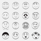 Set of Emoticons. With Different Character. Set of Emoji. Isolated vector EPS 10 Stock Images