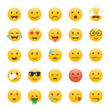 Set of Emoticons. Emoji flat design, avatar design. Vector illus. Tration isolated on white background Royalty Free Stock Photos