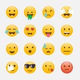 Set of Emoticons. Emoji flat design, avatar design. Vector illus Stock Image