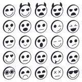 Set of Emoticons. Emoji icons collection. Smile funny faces. Vector eps10 Royalty Free Stock Image