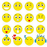 Set of Emoticons. Emoji icons pack. Royalty Free Stock Photography