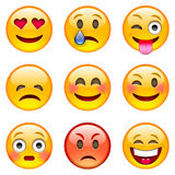 Set of Emoticons Stock Photography