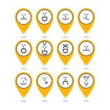 Set of emoticons, emoji of punctuation. Characters isolated. Vector Royalty Free Stock Photography