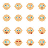 Set of Emoticons, Emoji. Smile icons. Isolated vector. Set of Emoticons. Set of Emoji. Smile icons. Isolated vector illustration on white background Royalty Free Stock Photos