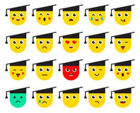 Set of Emoticons or Emoji. Vector Illustration. Royalty Free Stock Images