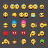 Set of emoticons - emoji - vector illustration Stock Image