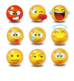 Set of Emoticons. Stock Photography