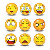 Set of Emoticons. Stock Photo