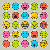 Set of emoticons, faces icons for design. Set of emoticons, faces icons Royalty Free Stock Images