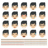 Set of emoticons, faces icons Royalty Free Stock Image