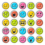 Set of emoticons, flat characters icons Royalty Free Stock Images