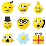 Set of emoticons Stock Photos