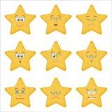Set of Emoticons. Flat style illustrations Royalty Free Stock Photo
