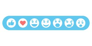 Set of emoticons and like. Vector illustration Royalty Free Stock Images