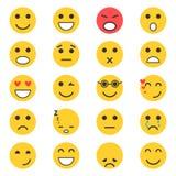 Set Emoticons Satz von Emoji Vektor Abbildung