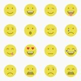 Set Emoticons Satz von Emoji Satz des Avataras Stockbilder
